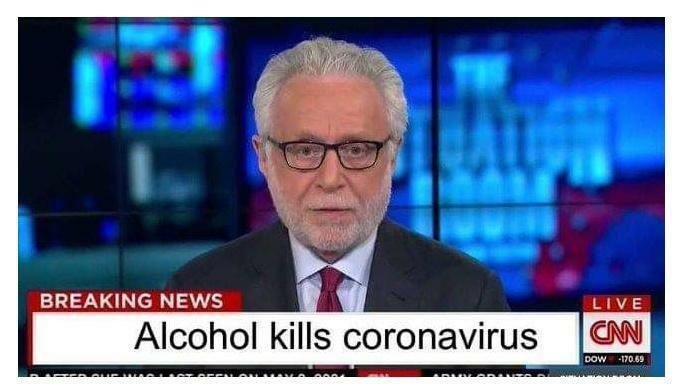 Alcohol kills coronavirus