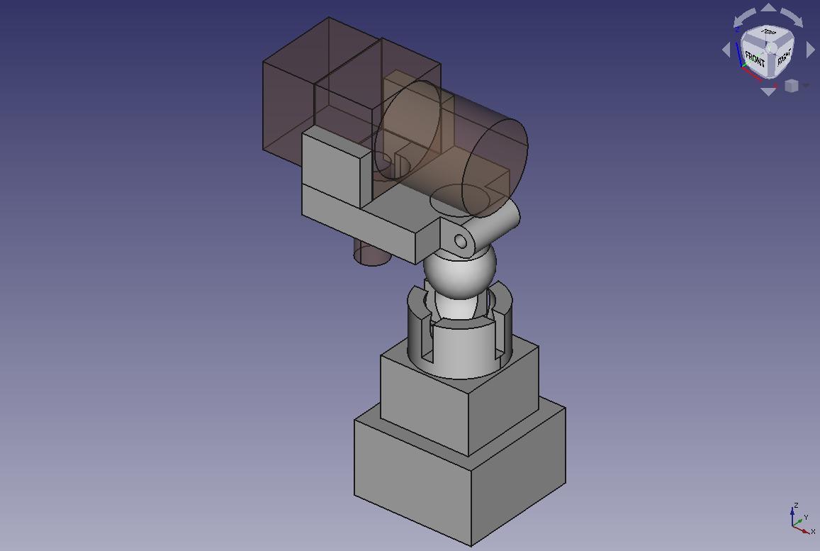 Модель держателя камеры