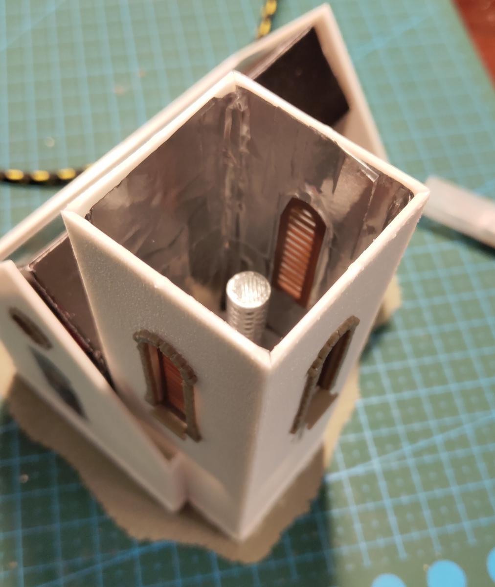 Светоподготовка внутри башни